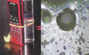 Ondas electromagnéticas de un móvil en el agua